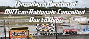 Thursday Action At Volusia Cancelled Due To Rain