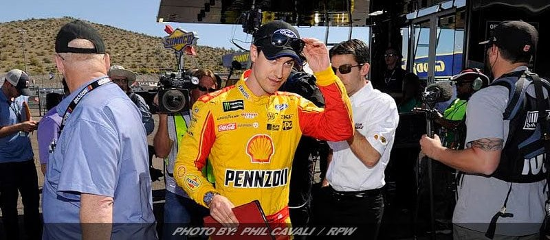 Logano Edges Blaney For Phoenix NASCAR Cup Pole