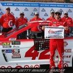 Larson Stays Hot; Wins NASCAR Cup Pole At Fontana