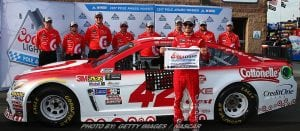 Larson Stays Hot; Wins NASCAR Cup Pole At Fontana