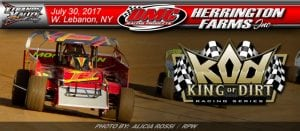 Herrington Farms, DMC Racing Products Partners With King Of Dirt At Lebanon Valley