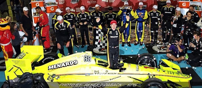 Pit Stops Help Pagenaud Win First IndyCar Oval Race At Phoenix