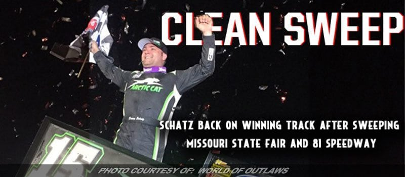 Schatz Wins World Of Outlaws Return To 81 Speedway