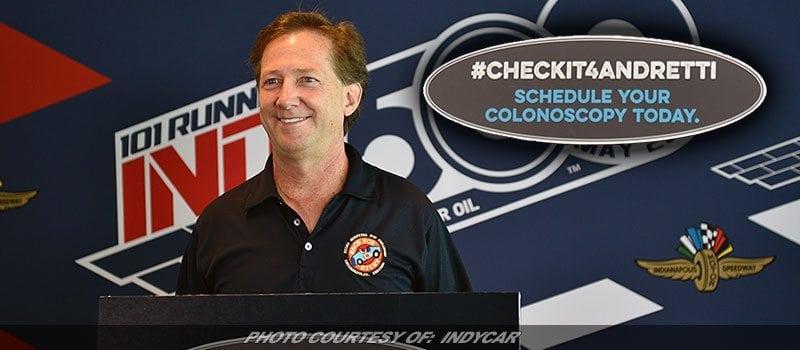 Battling Colorectal Cancer, John Andretti Takes Message Public