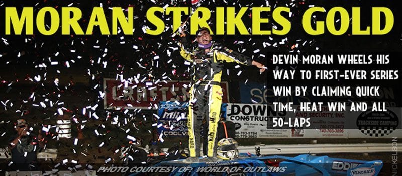 Devin Moran Wheels To First World Of Outlaws LM Series Victory