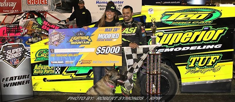 """Perrego Sits Atop """"Thunder Mountain"""" After Short Track Super Series Event Sunday"""