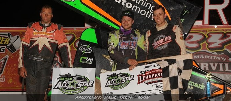 Wagner Holds Off Holtgraver For First-Ever All Star Sprint Win