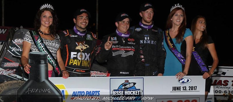 Bacon Sizzles On USAC Hot Thunder On The Hill Night At Grandview