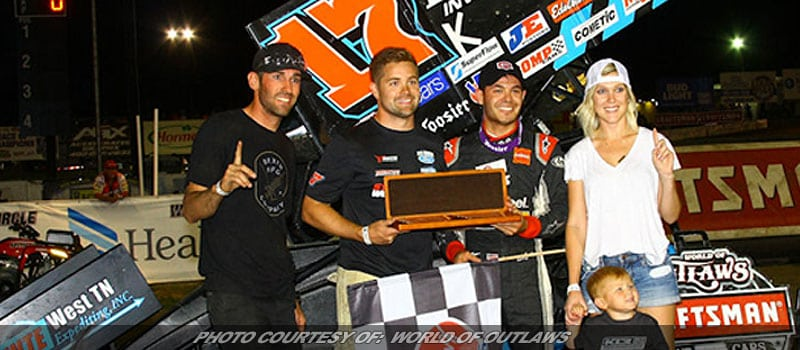Larson 'Parks It' For World Of Outlaws Win At Eagle Raceway