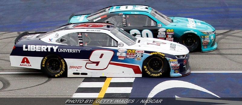 Hamlin Edges Byron For NASCAR XFINITY Win At Michigan