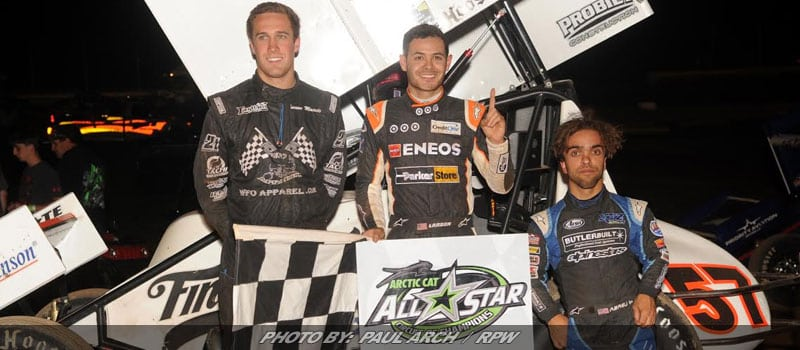 Kyle Larson Leads CA Podium Sweep At Sharon Speedway
