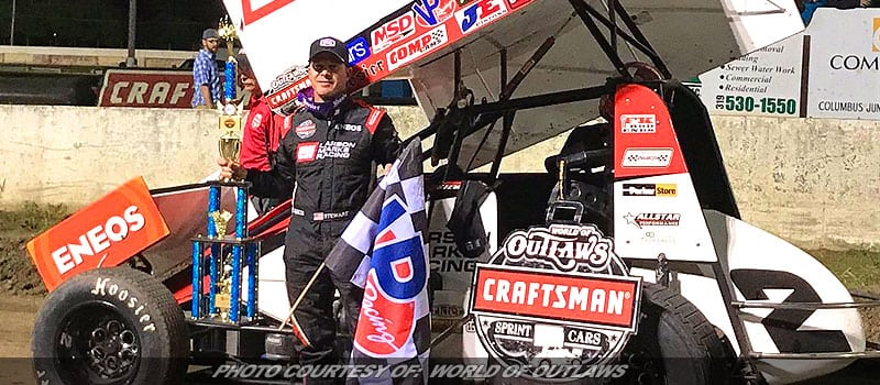 With Skill & Luck, Shane Stewart Locks In West Liberty WoO Sprint Win
