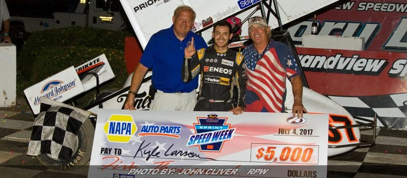 Larson Stays Hot In Sprints; Wins Thunder On The Hill At Grandview