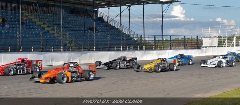 Drivers Chasing Dave Shullick Jr. & Dave Cliff In Oswego's Summer Championship