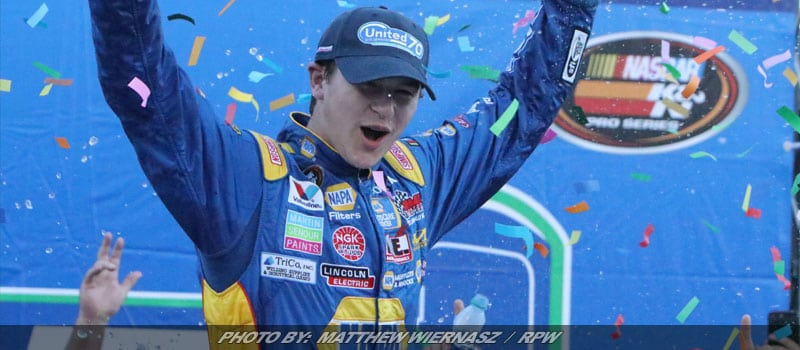 Todd Gilliland Reigns Victorious In United Site Services 70 At NHMS