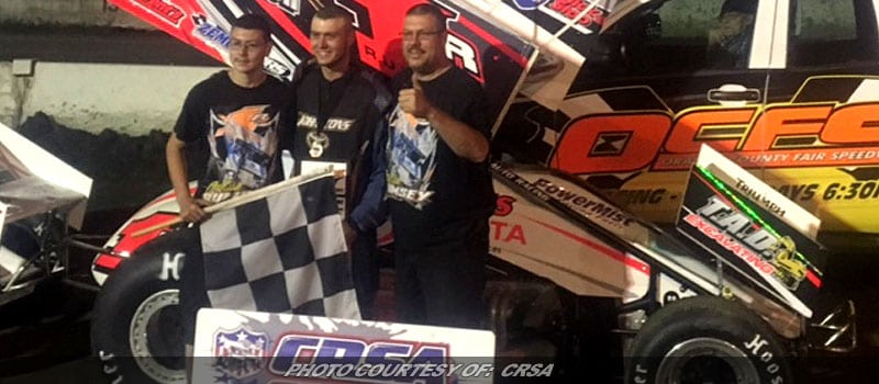 Rumsey Scores First Ever CRSA Sprint Win In Front Of Hometown Crowd