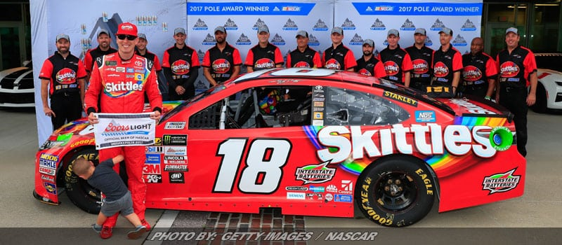 Kyle Busch Wins Cup Pole Chasing Third-Straight Indianapolis Win