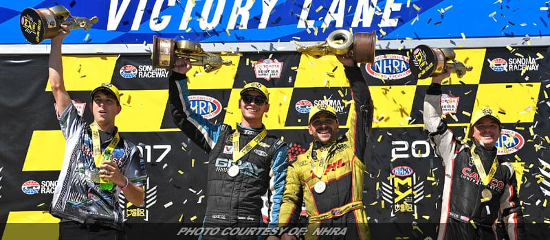 Todd, Torrence, T. Gray & Tonglet Take NHRA Victories At Sonoma