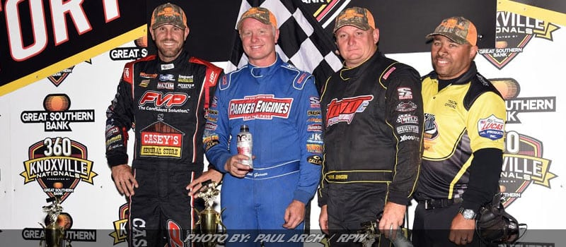Clint Garner Finally On Top; Wins 360 Knoxville Nationals!