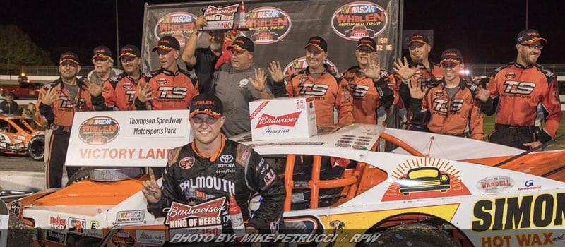 Preece Charges Late For Whelen Mod Tour Win At Thompson