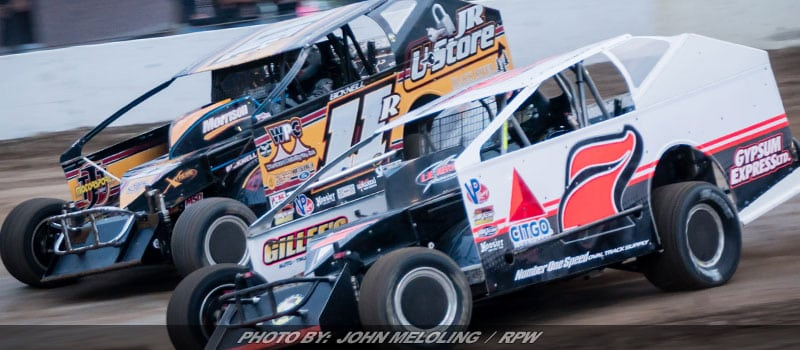 Double Big Block Modified Features At Brewerton Friday