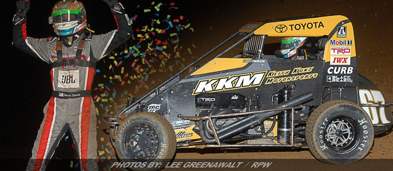Tanner Thorson Nabs First USAC Victory Of Season At Lanco