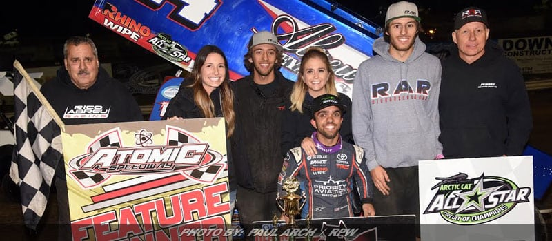 Rico Abreu Takes Open Wheel Championships Prelim At Atomic Speedway