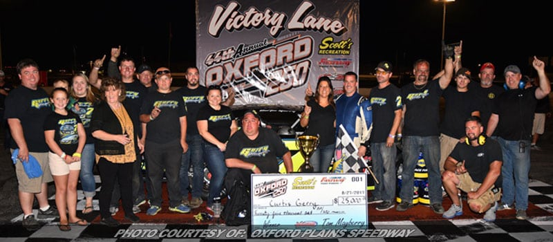 Curtis Gerry Wins 44th Oxford 250; Scores $35,000+