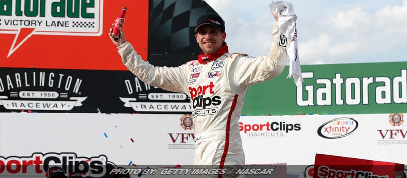 """Throwback Move"" Puts Hamlin In NASCAR XFINITY Victory Lane At Darlington"
