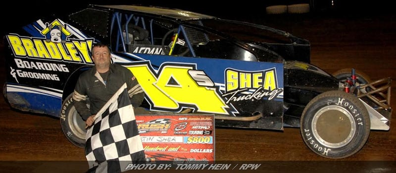 Justin Shea Makes Late Race Pass To Win Rush Sportsman Event At Sharon