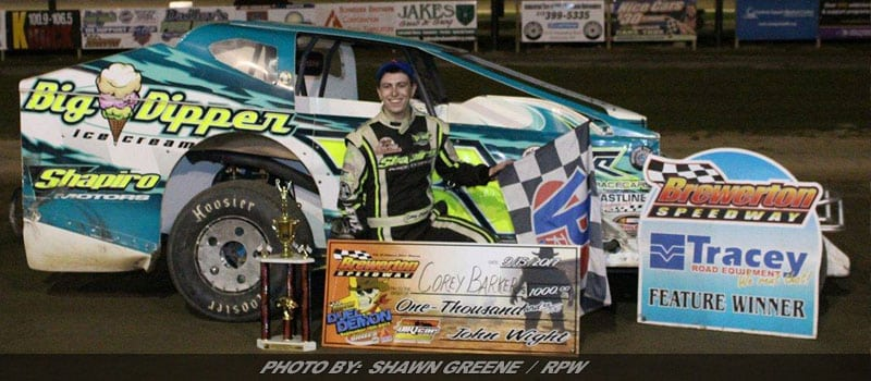 Corey Barker Tops Star-Studded DIRTcar Sportsman Championship Field At Brewerton