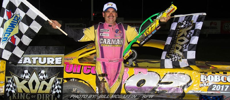 Kenny Martin Wins King Of DIRT Pro Stock Series Finale At Devil's Bowl