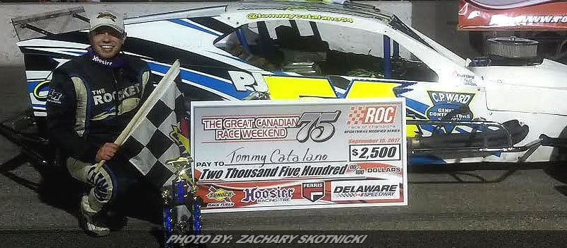 "Catalano Wins ""The Great Canadian Race At Delaware Speedway"