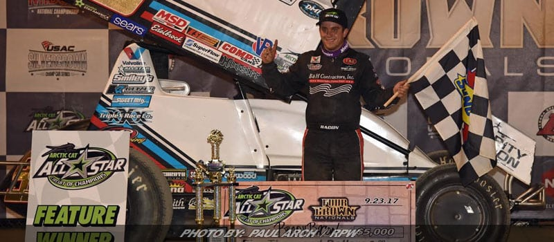 """The """"Macho Man"""" Brady Bacon Goes Wire-To-Wire To Win Eldora's 4-Crown Nationals"""
