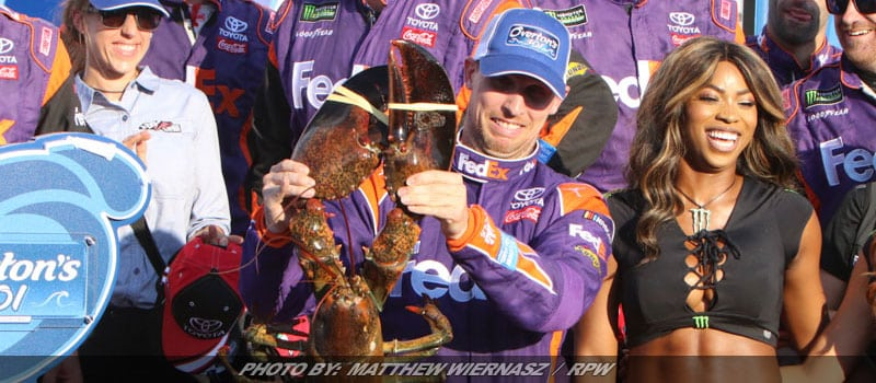 NHMS Cup Victory For Hamlin Means Confronting Lobster Phobia