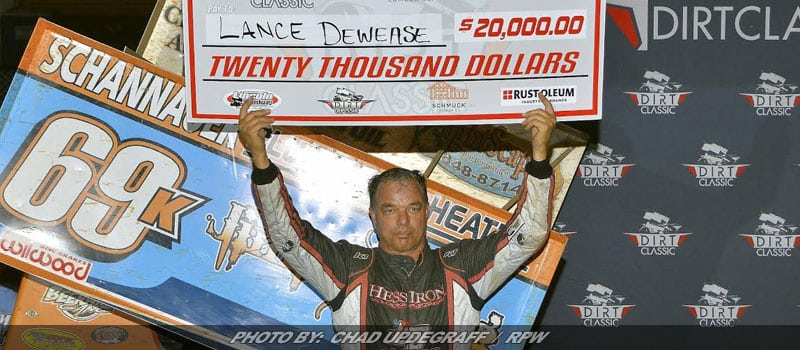Lane Dewease Takes Dirt Classic 4 At Lincoln Speedway