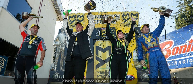 Capps, B. Force, Butner & Krawiec Emerge Victorious In NHRA Race At Maple Grove