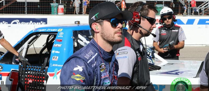 Ryan Truex Having Fun On The NASCAR Camping World Truck Series