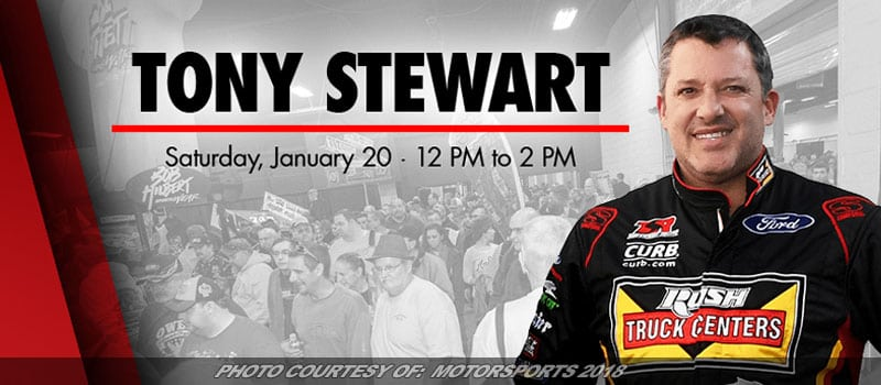 Tony Stewart To Appear At Motorsports 2018 In January