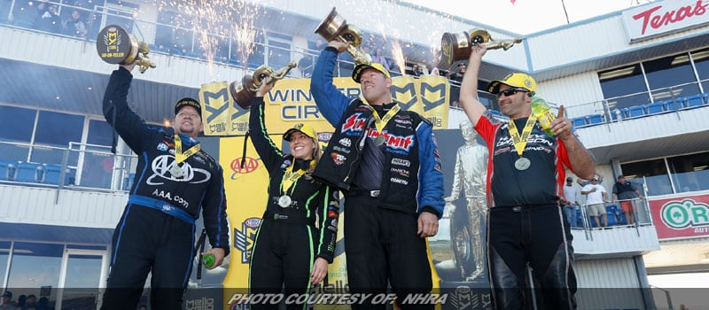 BForce, Hight, Line, Krawiec Victorious Sunday At NHRA Fall Nationals In Texas