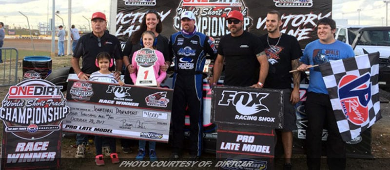 Davenport Wins World Short Track Championship Pro LM After Long Falls Out