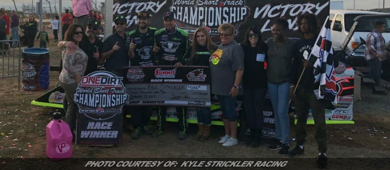 Strickler Scores Second-Straight UMP Modified World Short Track Championship Win