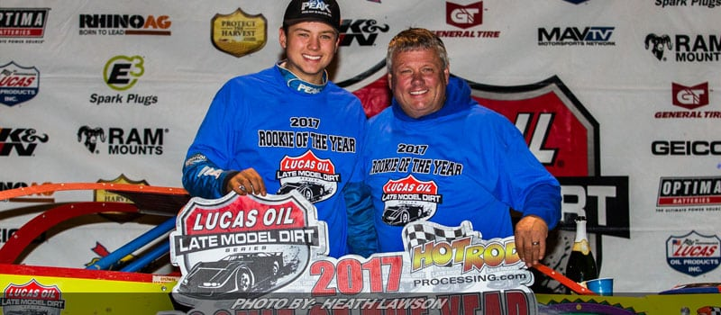 Hudson O'Neal Emerges As Lucas Oil Late Model Dirt Series Rookie Of The Year