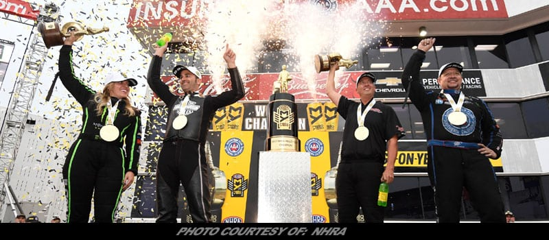 BForce, Hight, Butner Win NHRA World Championships In Finale At Pomona