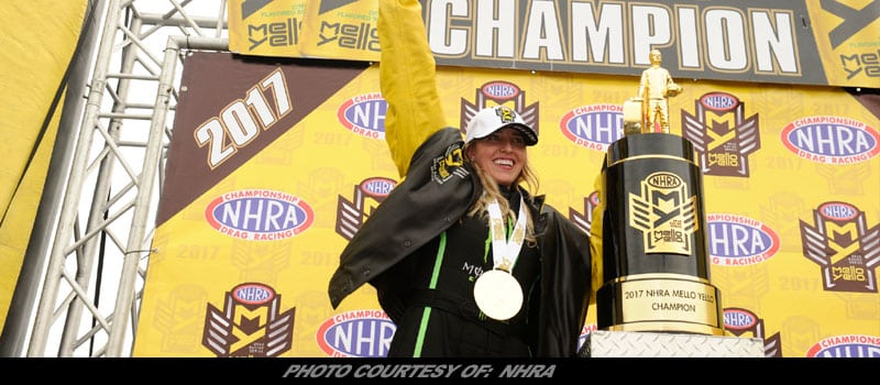 NHRA Mello Yello Drag Racing World Champions Crowned In Hollywood