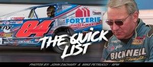 The Quick List: Super DIRTcar Series Modified Driver Gary Tomkins