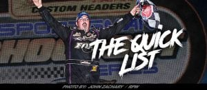 The Quick List: Sportsman Kingpin, Now 2018 Modified Rookie, Rocky Warner