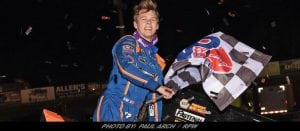 Haudenschild Hauls In First WoO Win In Front of Stenhouse, Sponsors & Sellout Volusia Crowd