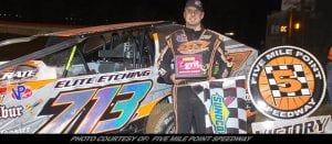 NY's First Race Goes To Tommy Collins; Takes Sportsman Lid Lifter At Five Mile Point