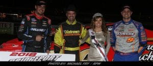 Luck Was On The Side Of Jeff Strunk & Tommy Collins Sunday Night At Bridgeport